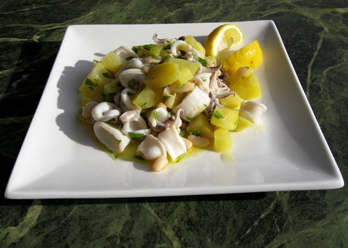 Chilled Calamari Salad With Lemon And Parsley Recipes — Dishmaps