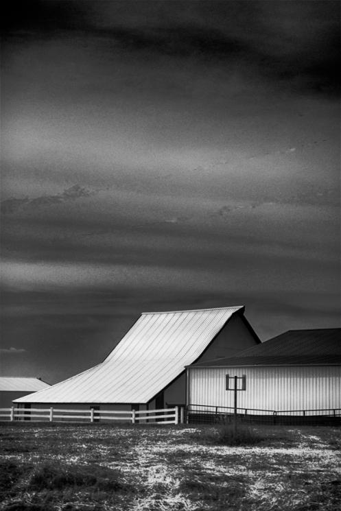 Barn tin roof